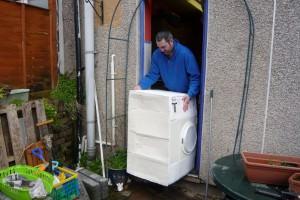 Back injury from lifting washing machine